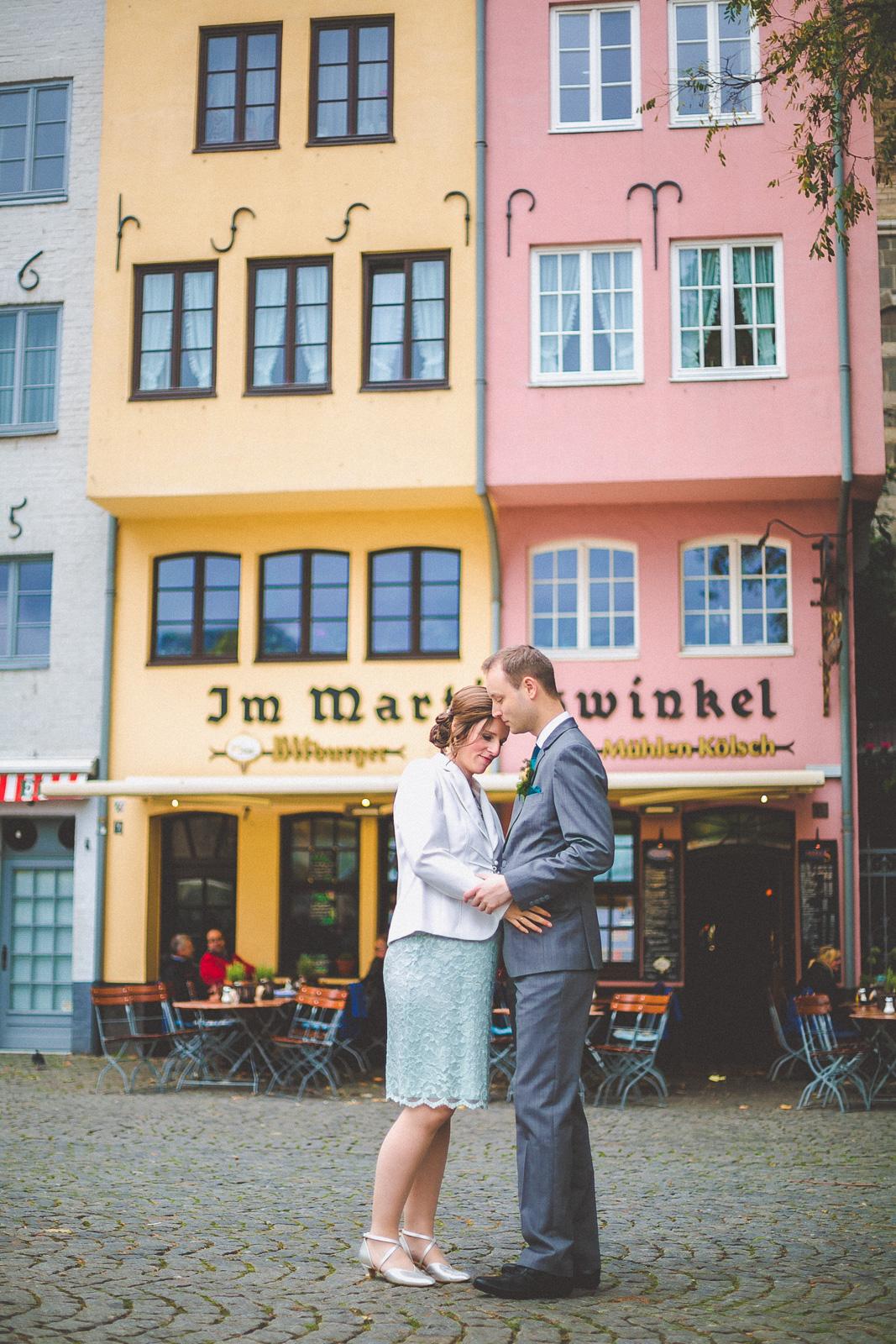 Hochzeitsfotos in der Kölner Altstadt