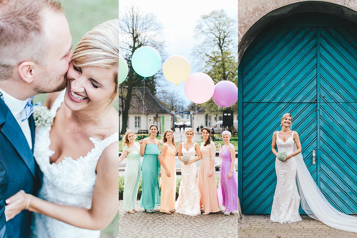 Pastell Hochzeit in Leverkusen