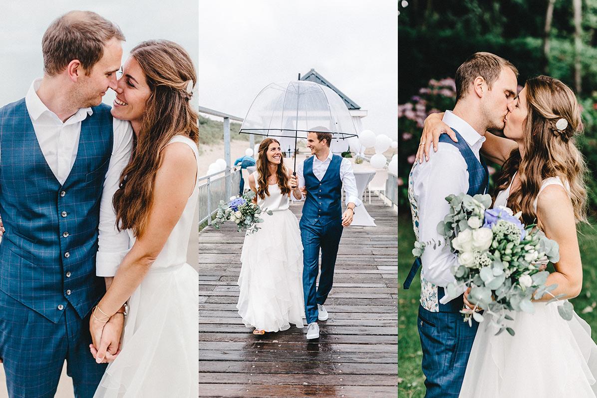 Hochzeitsfotograf einer Hochzeit in Holland am Strand