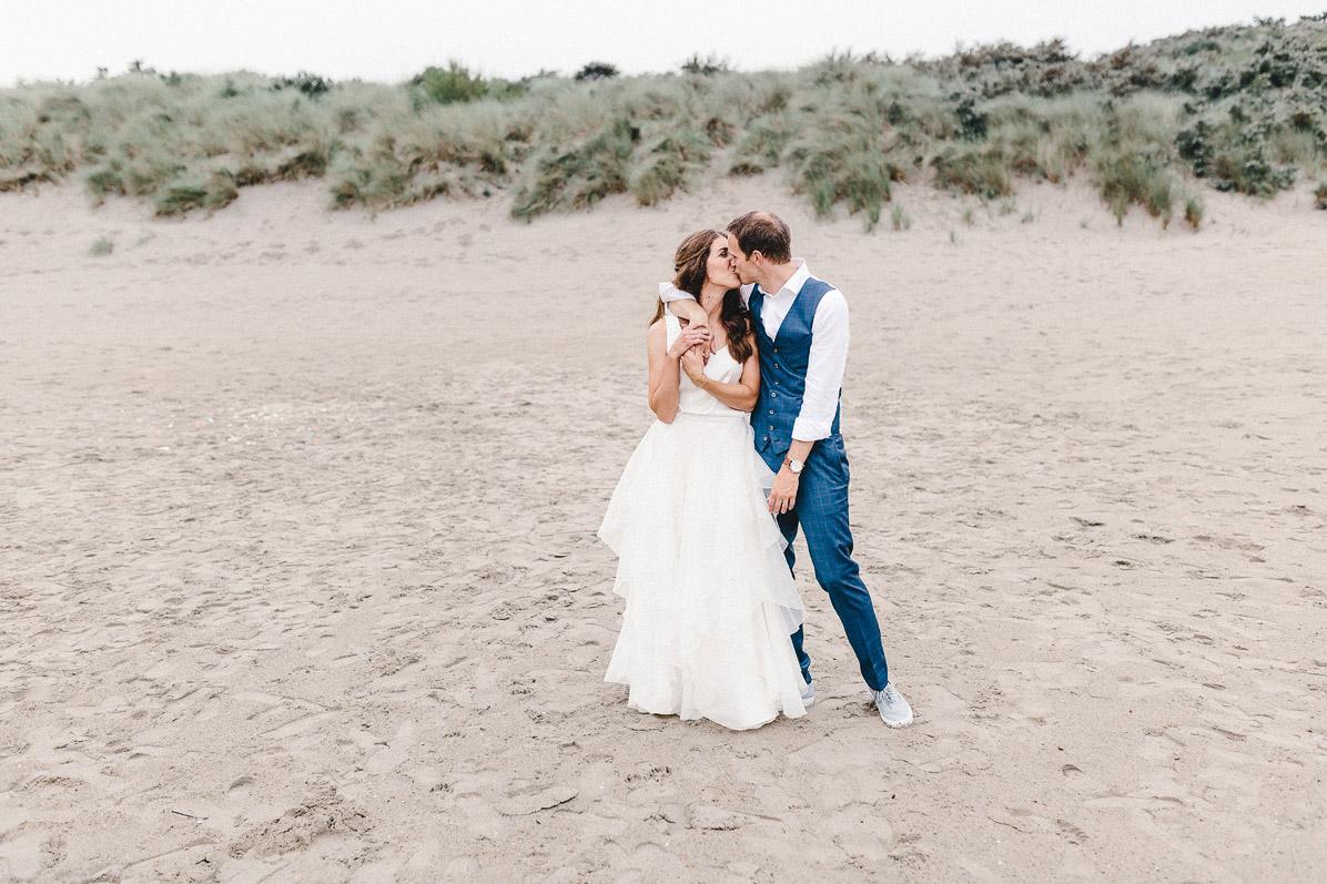 Hochzeitsfotos in den Dünen